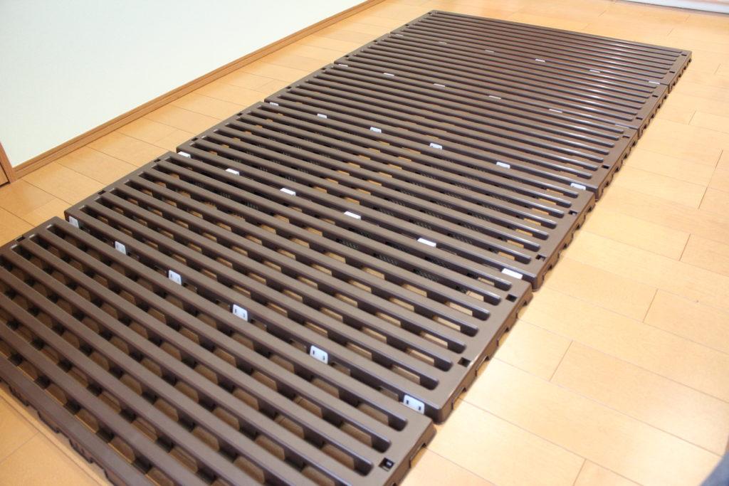 蝶プラ工業のプラスチック製すのこベッドのエアースリープ