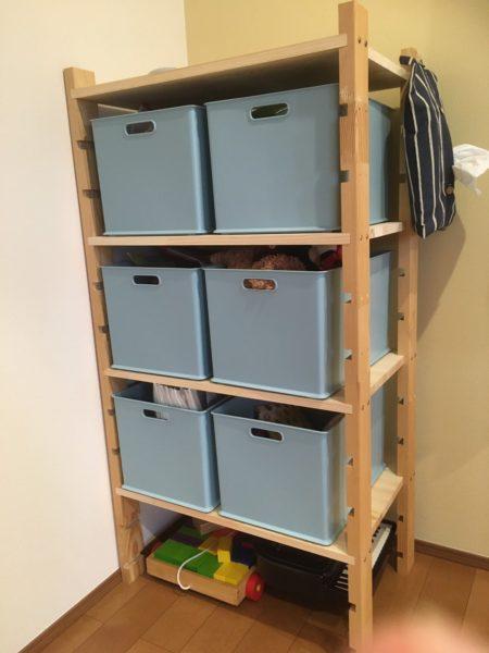 北欧風おもちゃ箱を簡単DIY。でもリビングにおもちゃ箱は置きません【レビュー】