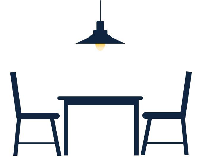 ダイニングテーブルの周りにどのくらいスペースが必要か分かりますか??